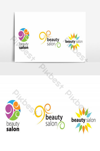 elemento gráfico de vector de diseño de logotipo de salón de belleza Elementos graficos Modelo AI