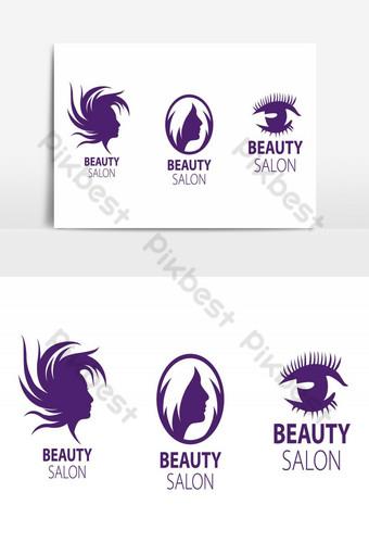elemento gráfico de vector de logotipo de salón de belleza Elementos graficos Modelo AI