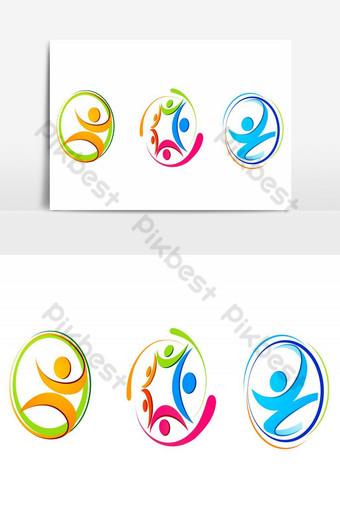 elemento gráfico de vector de diseño de logotipo de anillo Elementos graficos Modelo AI