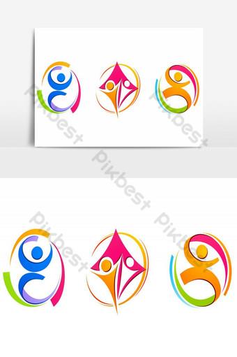elemento gráfico de vector de paquete de diseño de logotipo de anillo Elementos graficos Modelo AI
