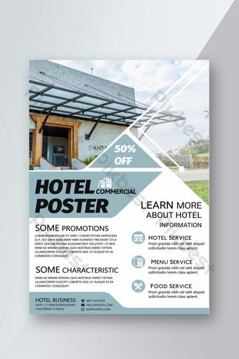 Affiche de flyer d'hébergement de voyage frais géométrique Modèle PSD