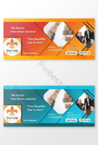 صورة غلاف الفيسبوك للشركات قالب PSD