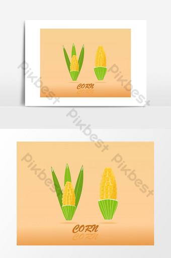 diseño de alta calidad dulce dorado de maíz con elemento gráfico de vector de belleza colorida Elementos graficos Modelo EPS