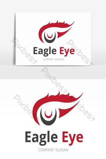 elemento gráfico de vector de ojo de águila logo creativo Elementos graficos Modelo AI