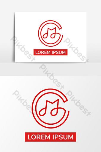 elemento gráfico creativo del vector del diseño del logotipo de la música de la letra m Elementos graficos Modelo AI
