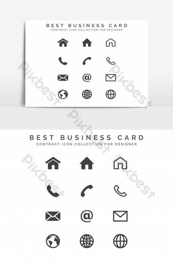 kit de tarjeta de visita moderna e icono para elemento gráfico de vector de diseñador Elementos graficos Modelo EPS