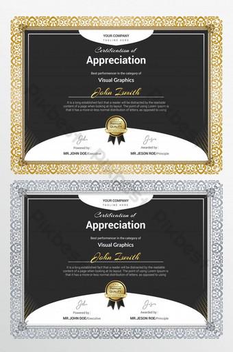 Świeży certyfikat korporacyjny Szablon AI