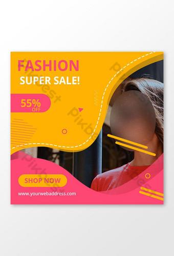 diseño de banner de publicación de instagram de amor de redes sociales de moda Modelo PSD