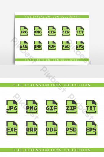 paquete de extensión de archivo moderno para elemento gráfico vectorial de diseñador Elementos graficos Modelo EPS