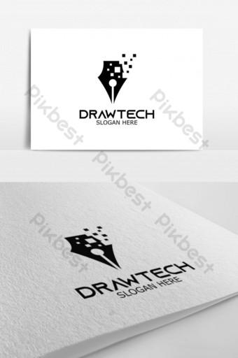 drawtech vector logo para el logotipo de identidad corporativa Modelo AI