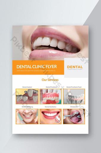 Flyer clinique dentaire Modèle AI