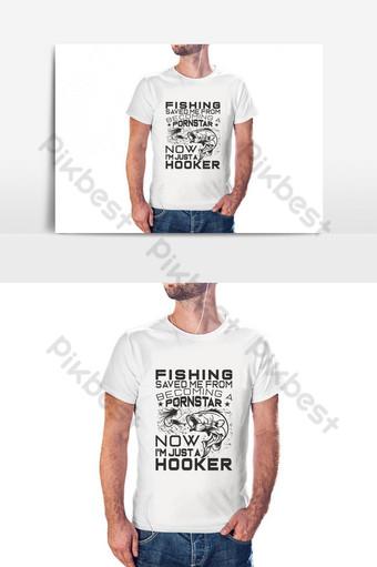 elemento gráfico de vector de diseño de camiseta de pesca Elementos graficos Modelo PSD