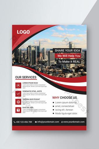 Conception de flyer psd rouge d'entreprise Personnalisation entièrement modifiable et facile Modèle PSD