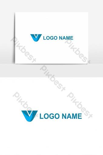 elemento gráfico de vector de diseño de logotipo de letra v Elementos graficos Modelo AI