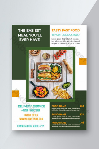flyer alimentaire moderne Modèle PSD