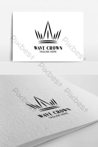 plantilla de diseño de logotipo de concepto de corona creativa plantilla de vector de diseño de logotipo abstracto Modelo AI