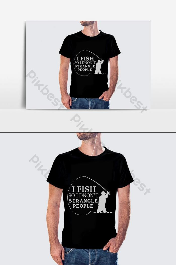 Я рыба футболка дизайн вектор шаблон