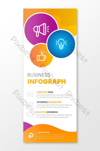 Business Info-graphic Key Points Design Template AI