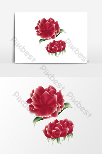 malla de degradado verde hoja roja rosa Elementos graficos Modelo PSD