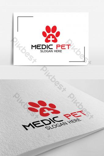 vector de logotipo exclusivo de medic pet para el logotipo de identidad de la empresa Modelo AI