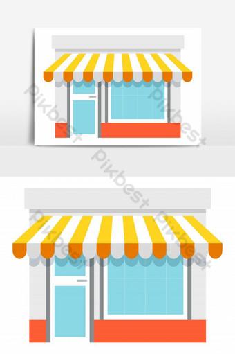 Icono de frente de tienda aislado sobre fondo blanco ilustración vectorial compras en línea en webs Elementos graficos Modelo EPS