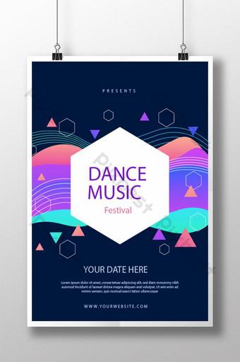 Affiche du festival de musique de danse Modèle AI
