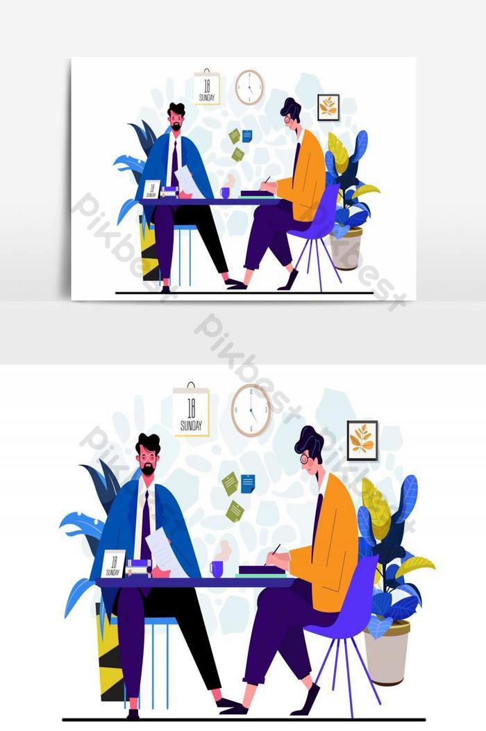 человек бизнес эскиз Иллюстрация вектор