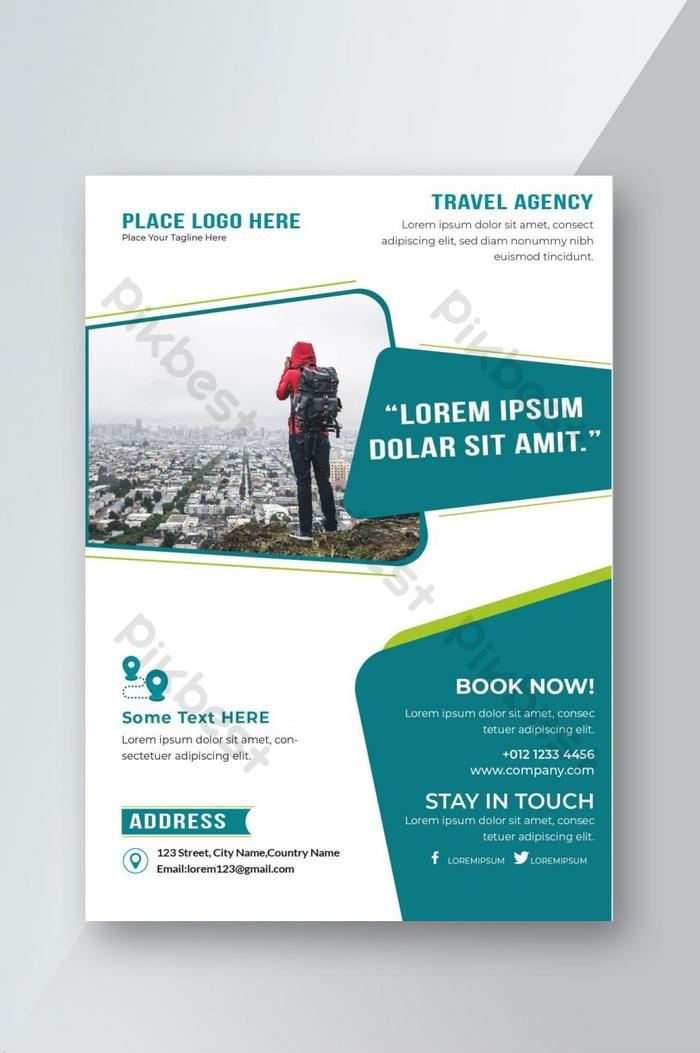 templat reka bentuk flyer travel agency
