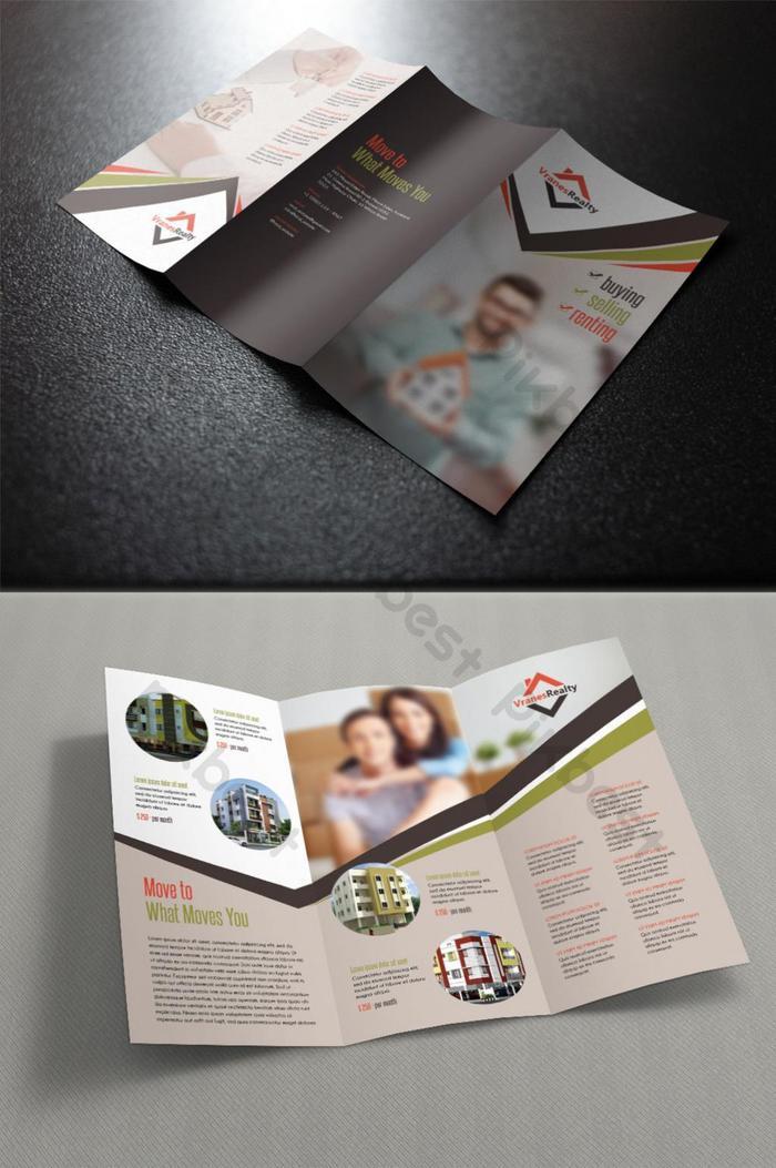 immobilien dreifach gefaltete broschüre