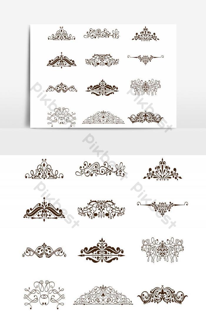 وثيقة عناصر التصميم الزخرفي جمع منحنيات متماثلة صور Png Ai تحميل مجاني Pikbest
