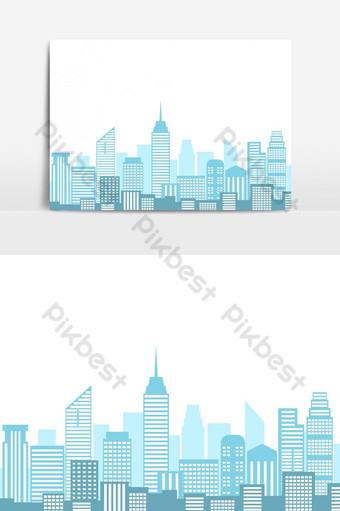 سهم التوجيه، تصوير، بسبب، منظر المدينة، ب، أفق المدينة، أيضا، البناية، عزل عزل صور PNG قالب AI
