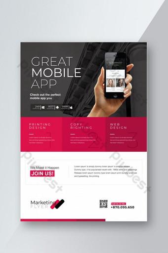 Grand dépliant d'application mobile Modèle AI