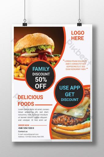 diseño de cartel publicitario de hamburguesas ai Modelo AI