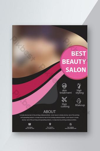 Flyer de salon de beauté Modèle AI
