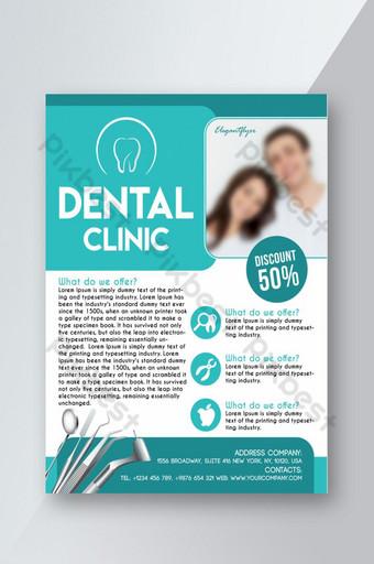Flyer clinique dentaire Modèle PSD