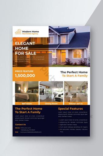 Modèle de conception de flyer immobilier créatif Modèle AI