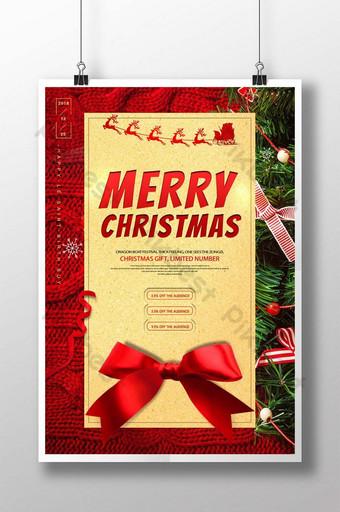 Modèle de Flyer promotionnel de célébration de vacances de Noël d'hiver rouge Modèle PSD
