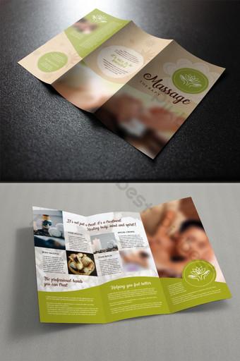 брошюра о спа-массаже шаблон PSD