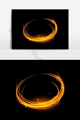 ناقلات تأثير الضوء شفافة مع دوامة الخط والتألق الذهبي صور PNG قالب EPS