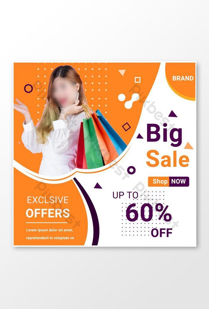 best big sale social media post design