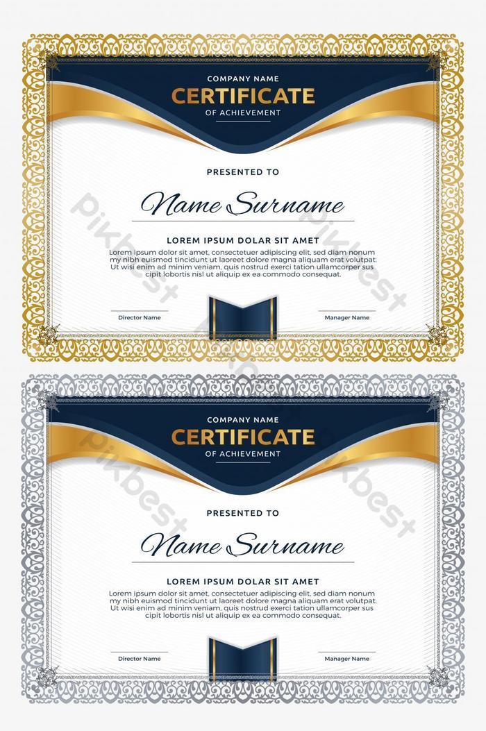 unikalny płynny szablon certyfikatu