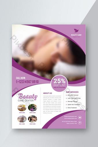 Modèle de flyer spa et salon de beauté Modèle AI