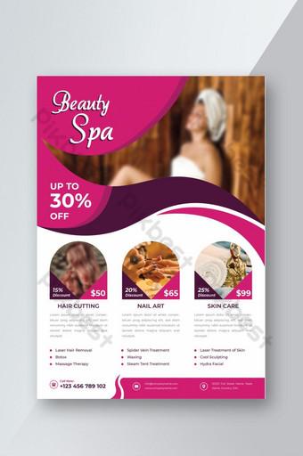 folleto de spa y salón de belleza Modelo AI