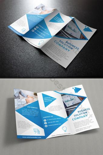 Modèle de dépliants à trois volets de conception de brochure d'entreprise de vecteur Modèle AI