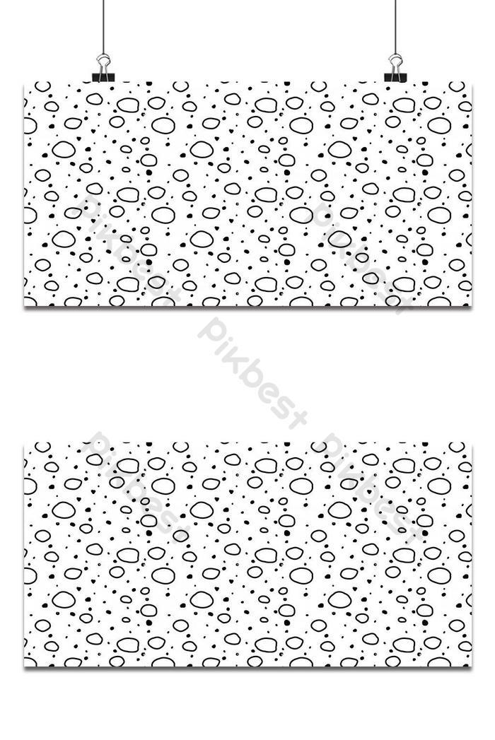 memphis circle pattern hintergrund in schwarz und weiß