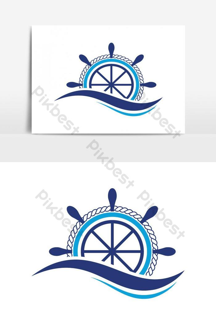 Ship Steering Wheel With Ocean Wave Logo Design Png Images Ai Free Download Pikbest