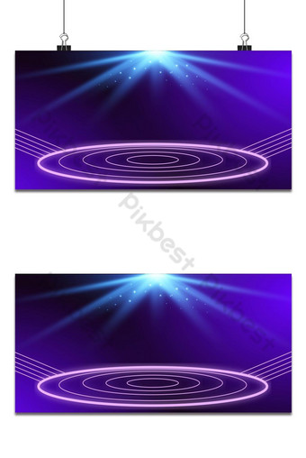 Neon Stage Lights Background Backgrounds Template PSD