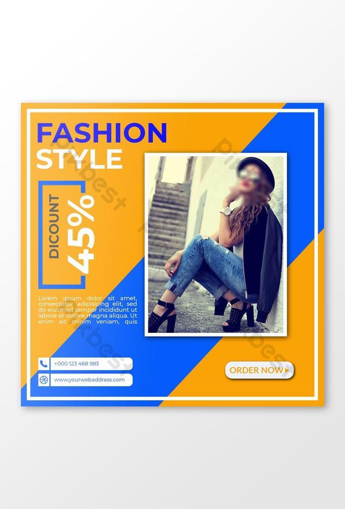 फैशन इंस्टाग्राम पोस्ट बैनर डिजाइन
