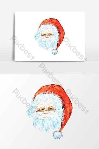 acuarela santa claus feliz navidad y feliz año nuevo fondo Elementos graficos Modelo PSD