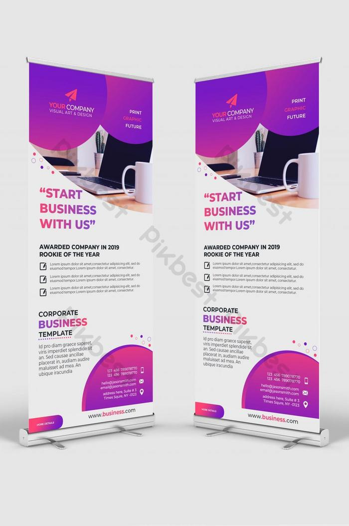 awesome corporate rollup banner design-vorlage psd